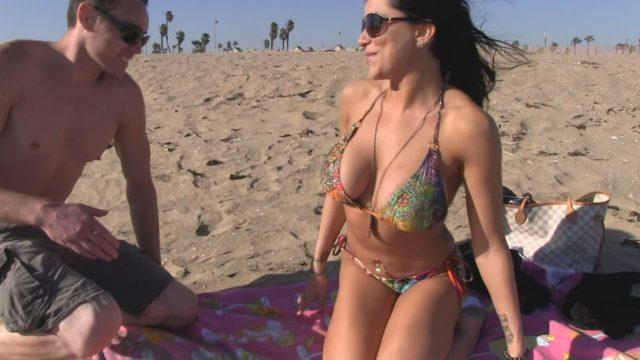 Alison Tyler Big Tits On The Beach 2