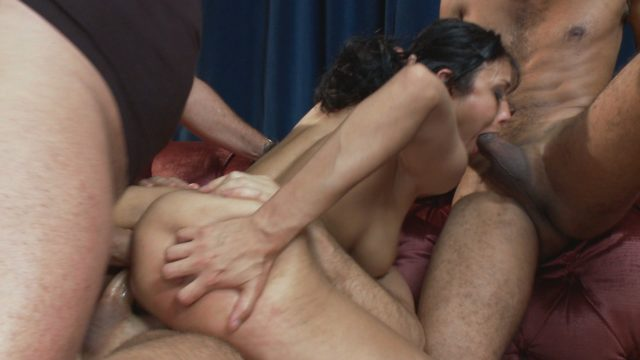 Beretta James, Charlie Whitehorse, Danny Wylde, John Strong, Mark Davis, Mickey Mod in Bound Gangbangs: Hot Fiance Spies On Her Grooms Bachelor Party And Gets Punished
