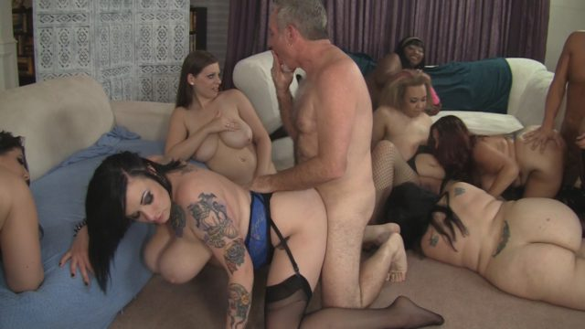 Angel DeLuca, Christian XXX, Jay Crew, Jessica Roberts, Lady Lynn, Lauren, Lyla Everwett, Marie Leone, Scarlet LaVey in Plumper Orgy 3