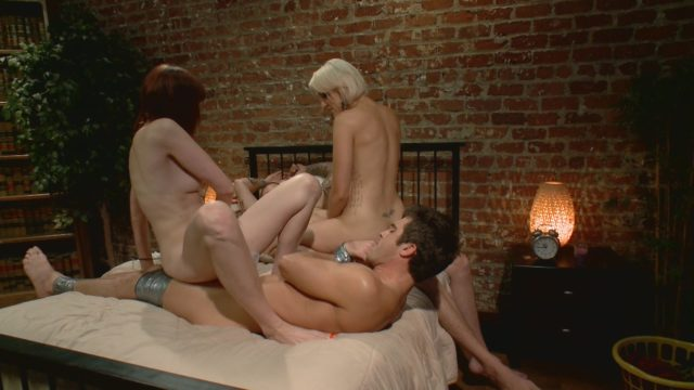 Christian Wilde, Dylan Ryan, Lance Hart, Maitresse Madeline in Divine Bitches: Please Fuck My Wife While My Prostate Is Milked