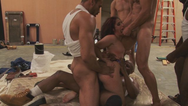 Carlo Carrera, Marco Banderas, Mr Pete, Prince Yahshua, Shades, Sheena Ryder in Hardcore Gangbang: Rich Bitch Gets Taken Down And Fucked In Every Hole