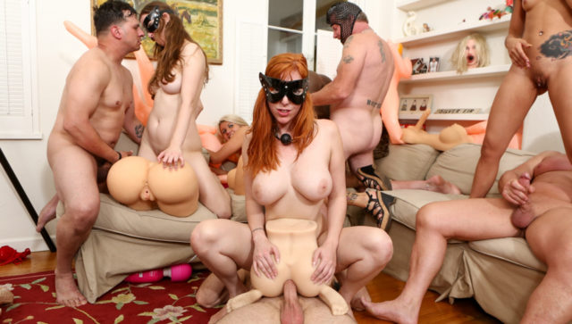 Lauren Phillips and Kimberly Chi and Layla Price in Storage Whore Orgy, Scene #01