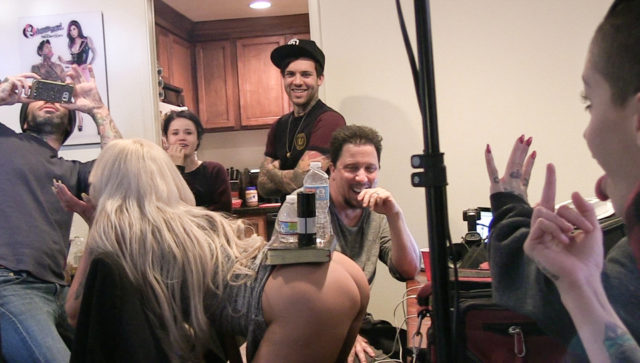 Leigh Raven and Yhivi and Anna de Ville and Nina Elle in BTS Episode 88, Scene #01
