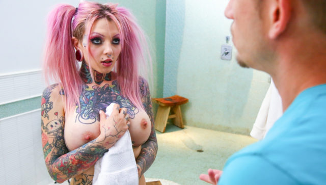 Sydnee Vicious in Big Tit Tattooed Stepsister Sydnee Vicious, Scene #01