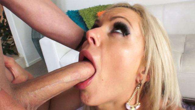 Nina Elle in Busty Babe's Deep-Throating Boob Fuck