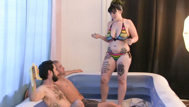 Joanna Angel and Axis Evol and Kandy Kummings and Kimberly Chi in BTS Episode 78, Scene #01