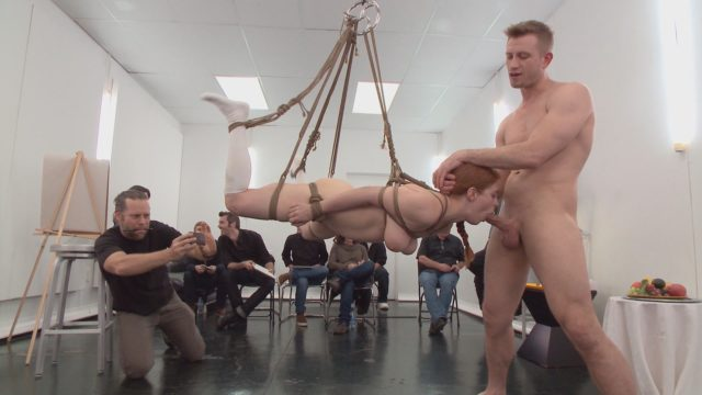 Bill Bailey, Penny Pax in Public Disgrace: Slutty Redhead Shocks Art Students By Taking Giant Cock In All Holes