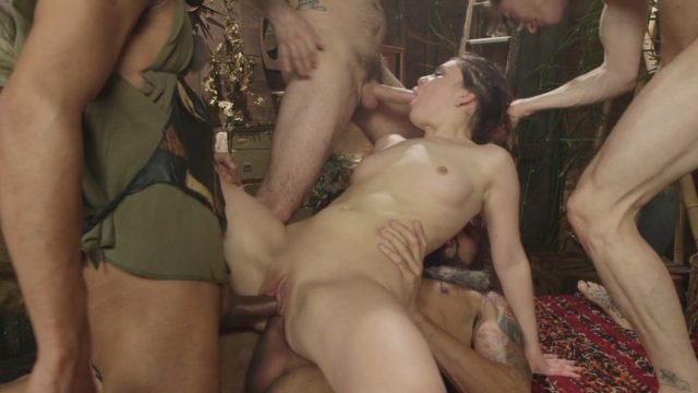 Carlo Carrera, Juliette March, Mickey Mod, Owen Gray, Tommy Pistol in Hardcore Gangbang: Juliette Stars As Wendy In Peter Pan And The Lost Boys Gang-bang Parody