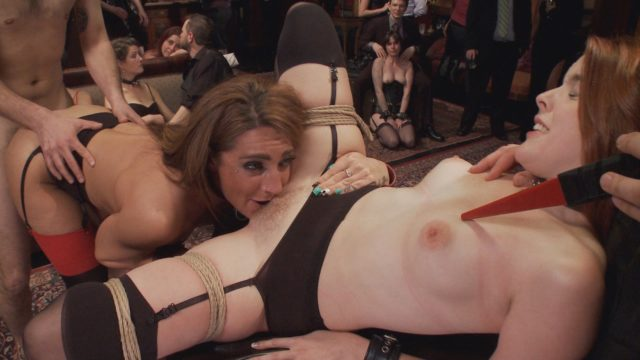 Amarna Miller, Savannah Fox in The Upper Floor: Two Slutty Slaves Service Cock
