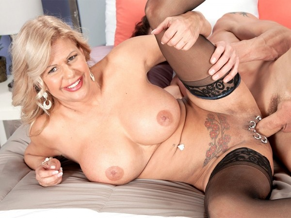 Miss Deb in Busty bosses with pierced pussies love hard cocks