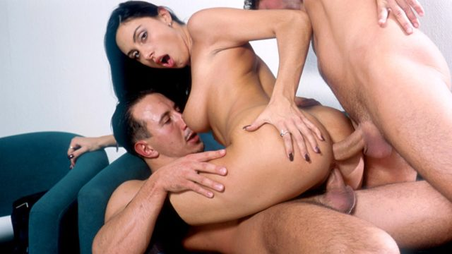 Mercedes in Sexy and Horny Mercedes Takes Two Hard Dicks in Every Hole