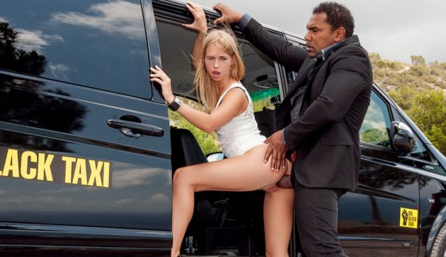 Violette Pink in Violette Takes a Black Taxi and Then the Black Cock of the Driver