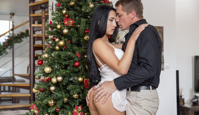 Ana Rose in Horny Ana Seduces Stepfather and Fucks Him as Her Christmas Gift