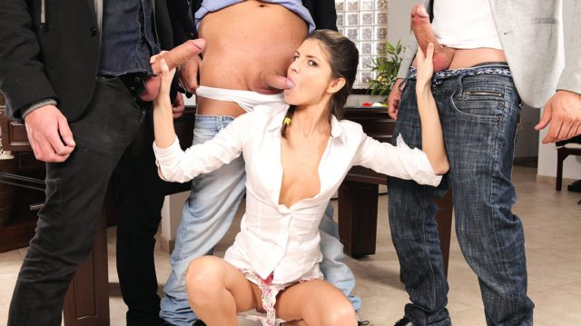 Gina Gerson in Gina Gerson Gets Private Lesson On How To Gangbang