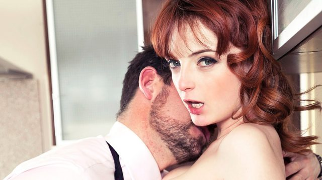 Lola Gatsby in Housewife Lola Gatsby Drains Cum in the Kitchen