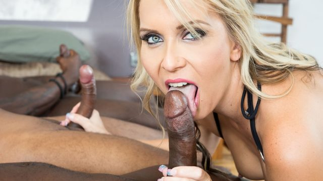 Julia Pink in MILF Julia Pink Stars in Her First Interracial Gangbang